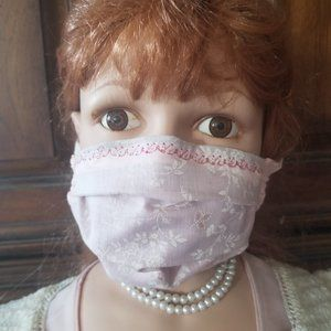 Kid Size Mask w/ Copper/Silver Filters-Pink Eyelet